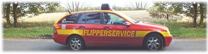 Unser Flipperservice-Notarzt-Sonderfahrzeug mit Signalbalken